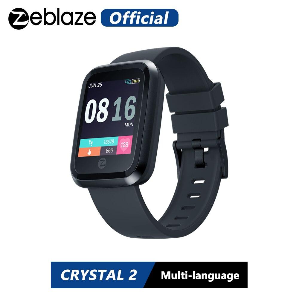 Новый zeblaze Кристалл 2 Smartwatch IP67 Водонепроницаемый Носимых устройств монитор сердечного ритма Цвет Дисплей Смарт часы для Android IOS