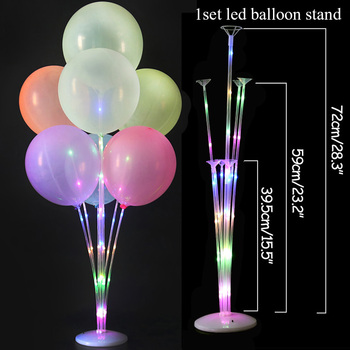 LED Light Air Balls Balloon Stand Column Wedding Table Decoration Balloons Holder Christmas Baloon Baby Shower Birthday Party 16