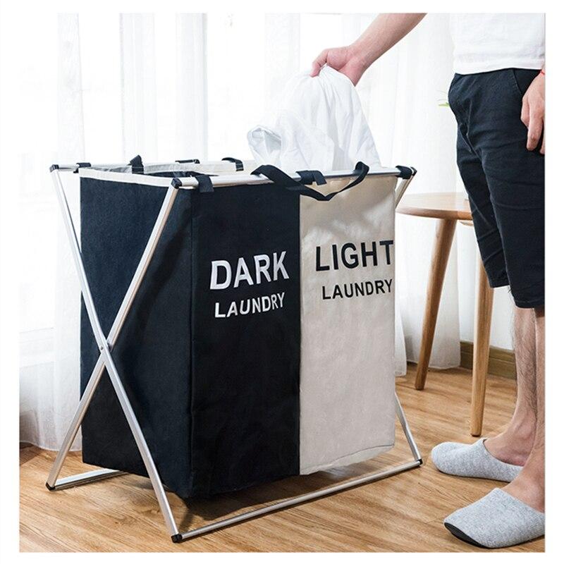 Х-Форма с тремя сетками дома бельем, сортировщик складной грязного белья корзина для хранения бумаг, складная корзина для белья большой