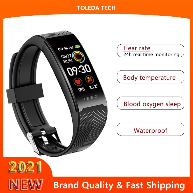 2021 novo esporte banda inteligente rastreador de fitness b7pro smartwatch pulseira corpo relógio temperatura para iphone xiaomi huawei andriod ios