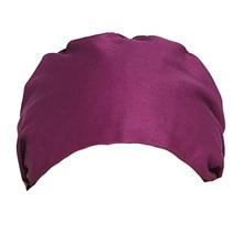 Adjustable Working Cap Cotton Hat Head Protector Creative Headdress for Womem Men (Purple)