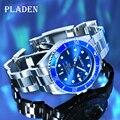 PLADEN мужские часы Водонепроницаемый ведущих мировых брендов Для мужчин наручные часы Reloj Hombre световой Нержавеющаясталь Элитный бренд Для м...