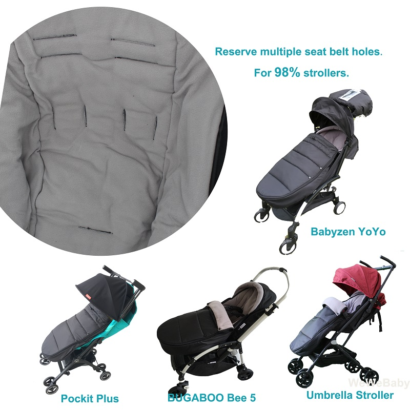 Universal Baby Stroller Accessories Waterproof Sleepsacks Sleeping Bag Warm Footmuff Socks For Babyzen YOYO 2 YOYO2 Pushchair