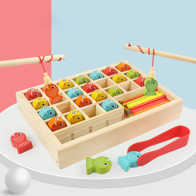 Wooden Math Fishing Kit
