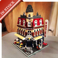 In Stock 15002 Street View Cafe Corner 10182 Building Blocks 2000+Pcs Creator Bricks Construction  84002 LJ99014