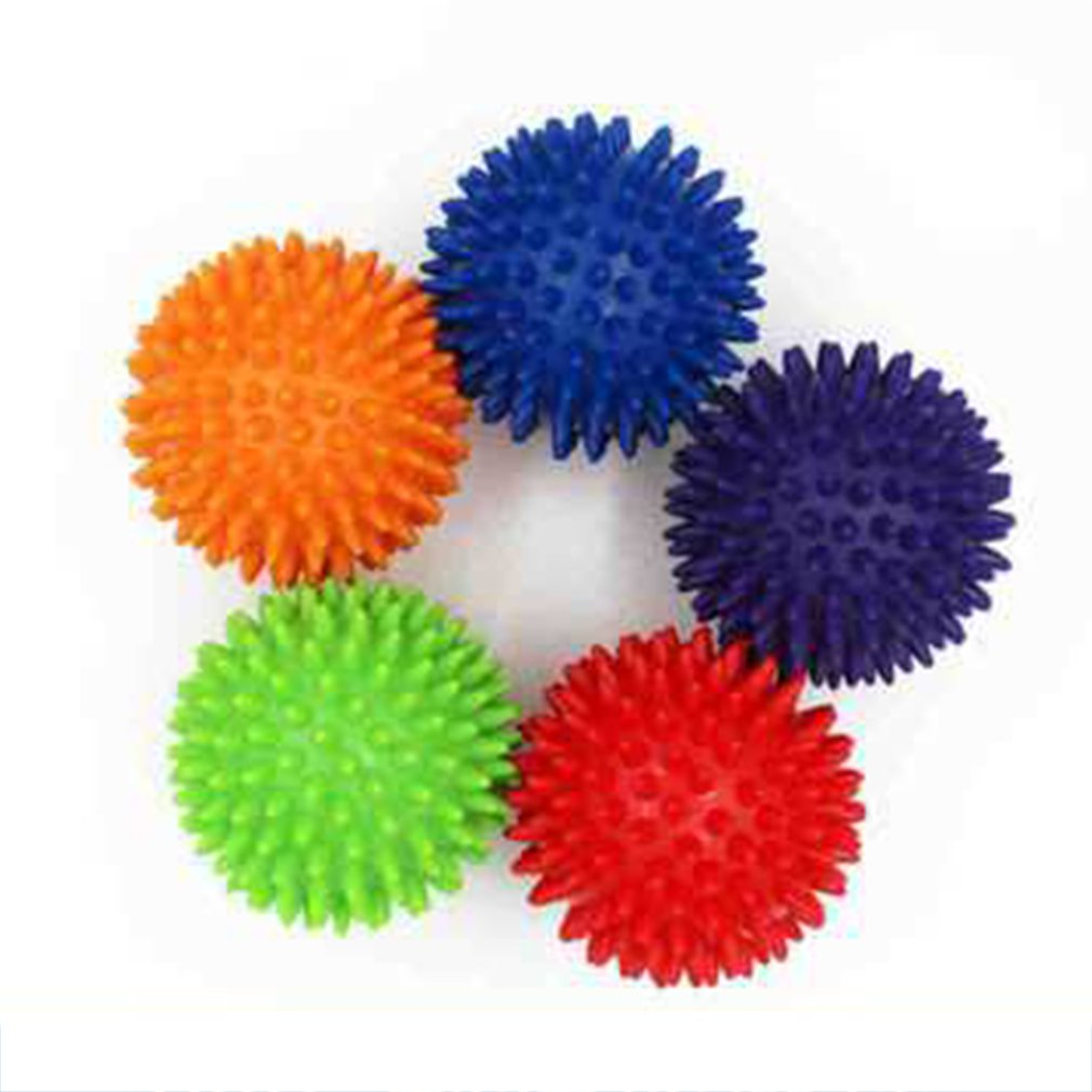 4pcs/lot Spiky Foot Sole Hand Massage Ball Yoga Sports Fitness Hand Foot Pain Relief Tool Muscle Relax Apparatus Wholesales