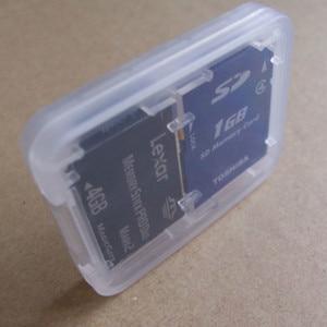 Image 4 - 1 PC Harte Micro SD SDHC TF MS Speicher Karte Lagerung Box Protector Halter Hard Case Speicher Karte Lagerung Box