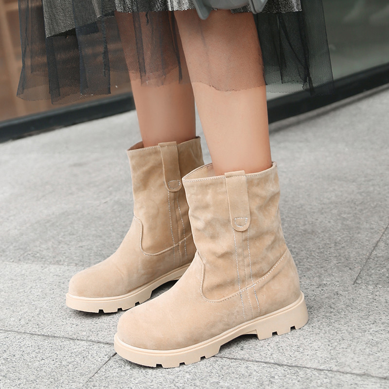 2020 High Quality Winter Women Boots Fashion Boots Woman Mid Calf Snow Boots Outdoor Casual Boots
