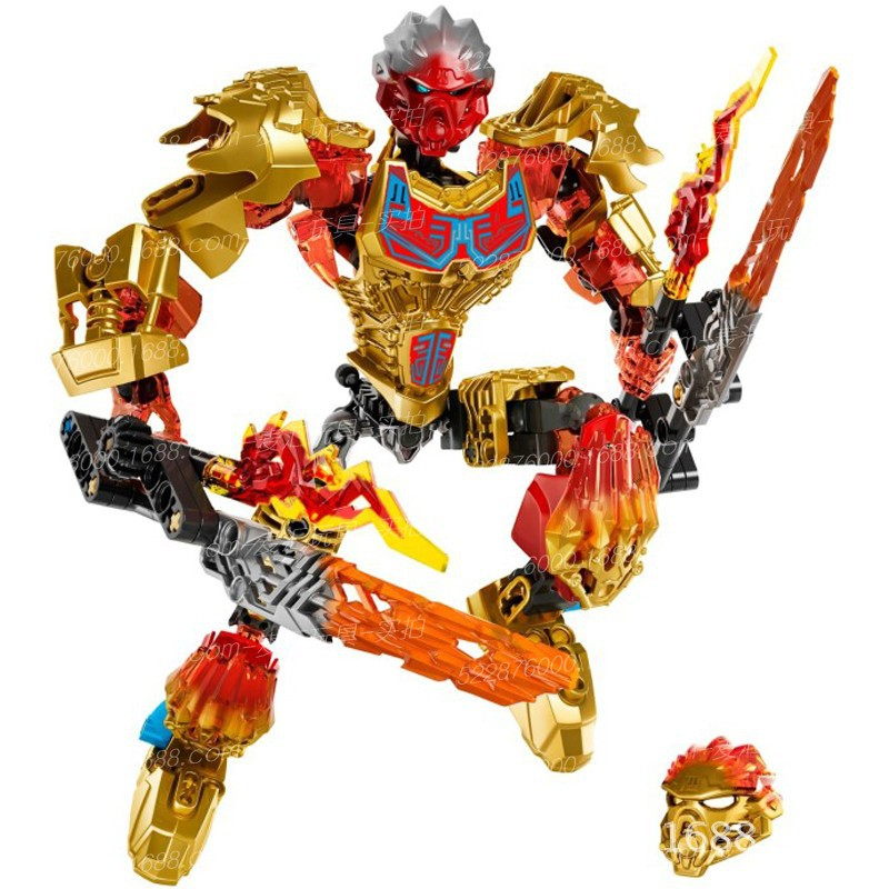BIONICLE Series 611-1 Jungle Rock Water Earth Ice Fire Protecto Action Building Block For Child Christmas Gifts With Legoinglys
