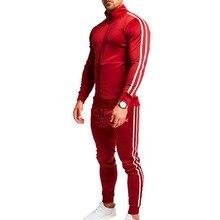 PUIMENTIUA 2019 Men Fashion Long Sleeve Sweatshirts+Pants Set Male Tracksuit Sport Suit Men's Gyms Set Casual Sportswear Suit