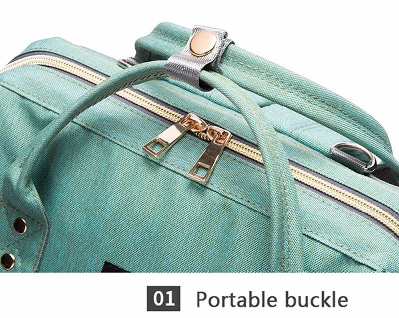 Hefcd88a2da7747759b309e43b9415445P Diaper Bag With USB Interface Large Capacity Travel Backpack Nursing Handbag Waterproof Nappy Bag Kits Mummy Maternity Baby Bag