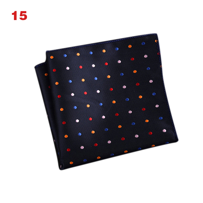 High Quality Men's Handkerchief  Striped Floral Printed Hankies Polyester Business Pocket Square Chest Hanky