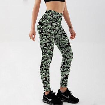 Qickitout Leggings  Drop shipping Women Fashion Leggings Sexy Green zombie Printing LEGGINGS Size S-4XL Wholesale 1