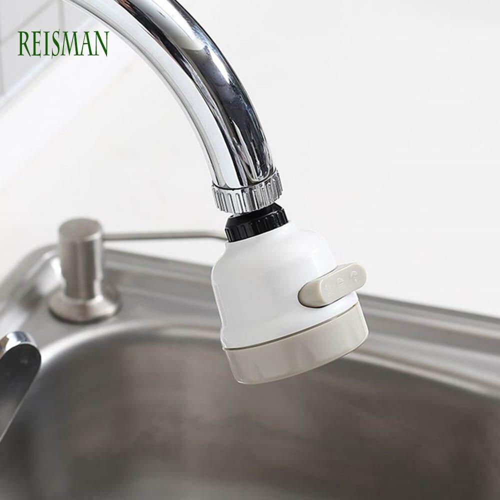 REISMAN  Nozzle For Faucet Mobile Head Kitchen Faucet Universal 360 Degree Rotatable Water Tap Sprayer Faucet Splash Regulator