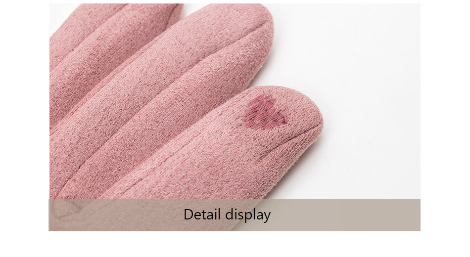 Winter Women Touch Screen Gloves with Embroidery made with a Special Conductive Fabric into Finger Tips for fast Navigation of All Touch Screen Device 8