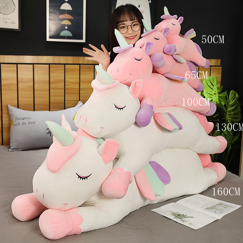 New Cushions Pillow For Sofa Colorful Pegasus Pillow Angel Unicorn Plush Toys Dolls For Kids Birthday Gift Valentine's Day Gifts