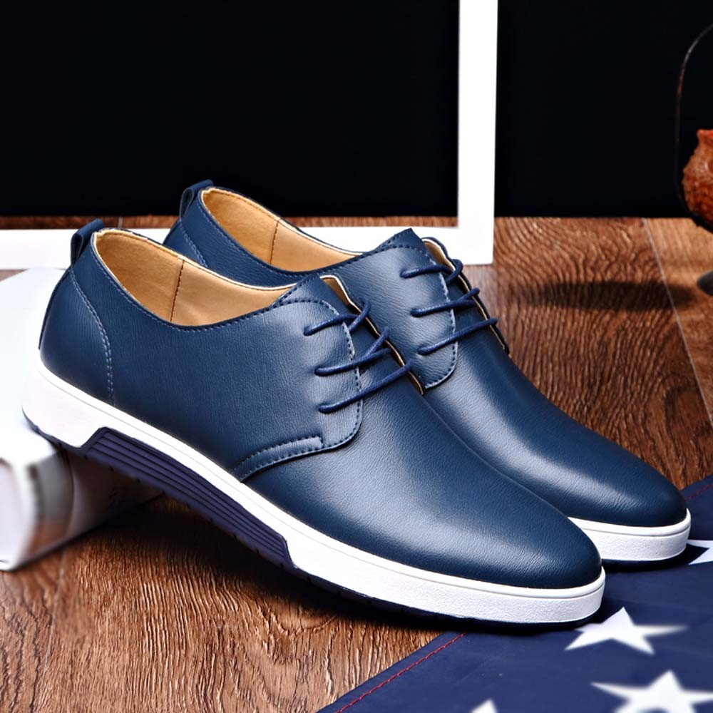 Hot 2019 hommes chaussures décontractées homme chaussures plates respirant hommes mode classique formelle affaires chaussures hommes en cuir chaussures pour hommes Jan4