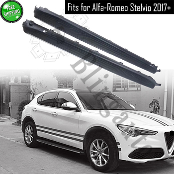 Running board fits for Alfa-Romeo Stelvio 2017-2020 side step nerf bar auto platform protect side beam side stairs