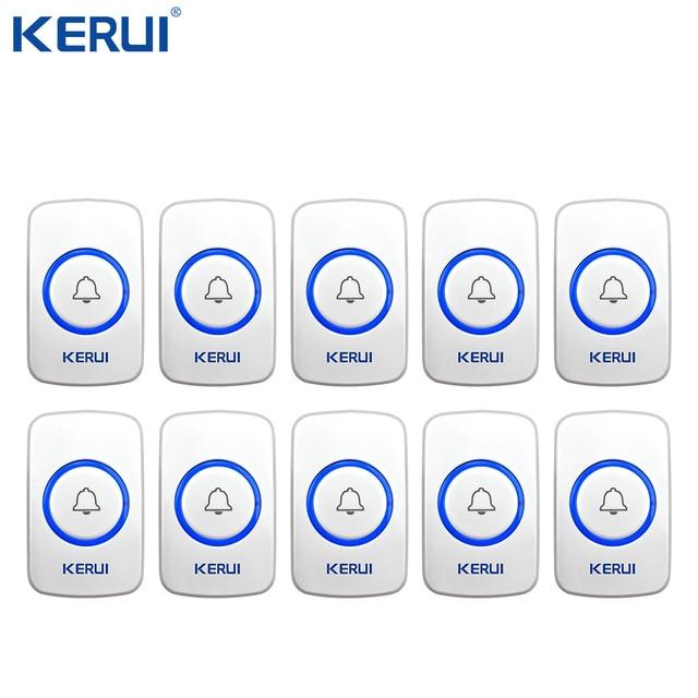 10 Kerui 무선 패닉 버튼 무선 초인종 비상 버튼 홈 경보 시스템 보안 긴급 호출 도어 벨