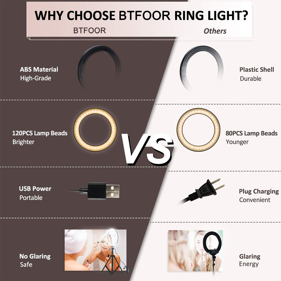 Hefce7563b045414da1f467dcaefba572v - Selfie Ring Light Phone Remote Control Lamp26cm Photo Ring light Led  Photography Lighting With Tripod Stand Holder Youtube Video