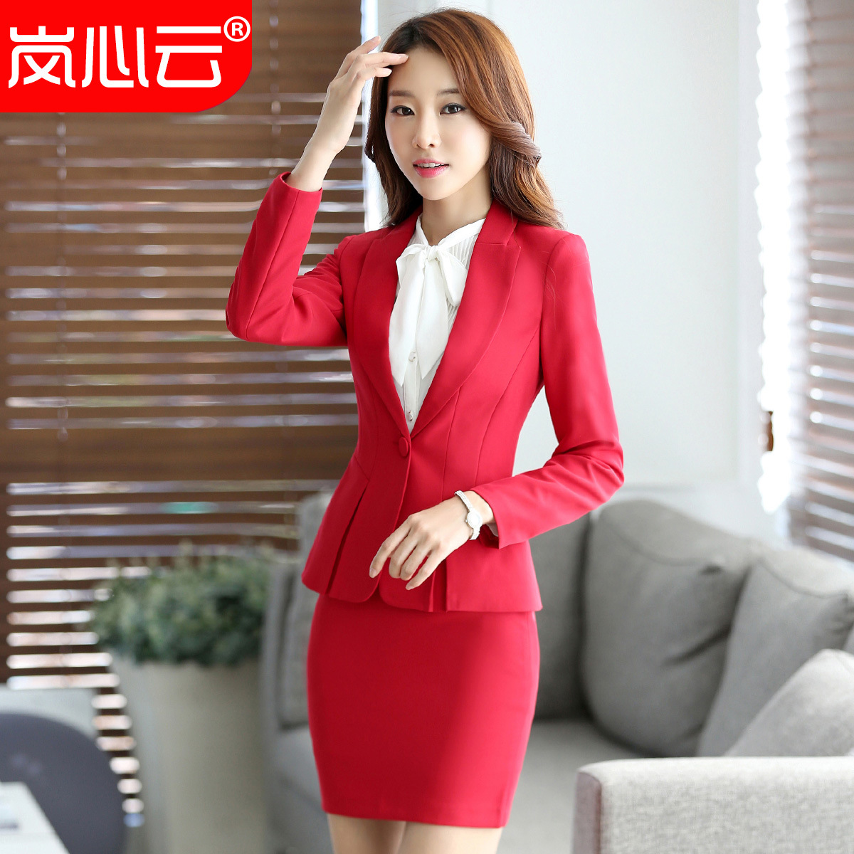 2019 New Products Ol Wear WOMEN'S Suit Autumn And Winter Leggings Long Sleeve Formal Wear Interview Hotel Manager Women's Work C