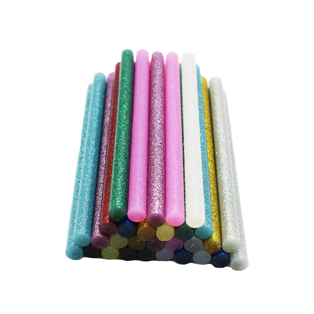 Kuke DIY 5pcs Colourful 7mm*100mm Hot Melt Glue Sticks For Glue Gun Craft Phone Case Album Repair Accessories Adhesive 7mm Stick