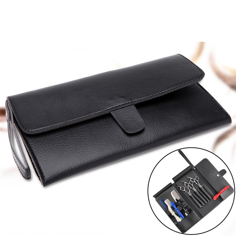 Good Quality PU Leather Hairdressing Tools Bags Hair Scissor Case Pouch Holder Hair Styling Tools Accessories For Barber Shop