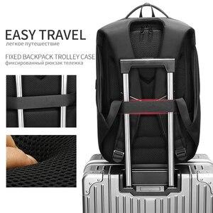 Image 3 - EURCOOL حقيبة السفر الرجال متعددة الوظائف سعة كبيرة الذكور موتشيلا حقائب USB شحن ميناء 17.3 بوصة محمول حقائب الظهر المدرسية