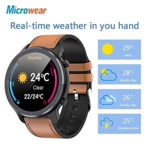 Image 4 - 2020 nova microfones l11 relógio inteligente tela de toque rastreador freqüência cardíaca ecg pressão arterial chamada lembrete bluetooth ip68 smartwatch