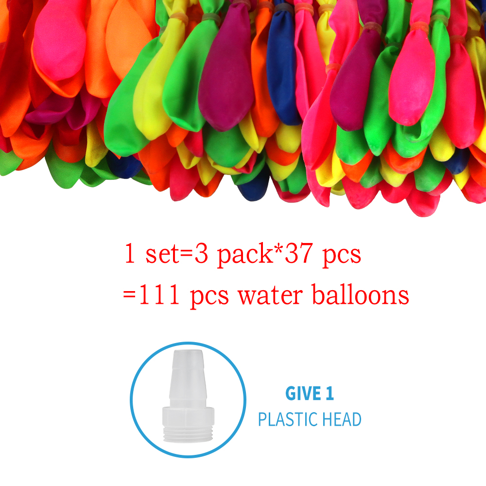 111 Pcs Water Bombs Balloons Toys Easy And Fast Filling Water Children Water War Prank For Summer Outdoor Beach Party Game Toys