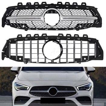 Front Racing Billet Bumper Grille Upper Facelift Grill For Mercedes-Benz  CLA- Class W118 2020