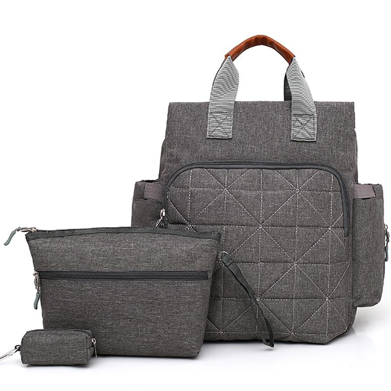 3pcs/set Diaper Bag Backpack Mummy Backpack Nappy Changing Large For Stroller Handbag Multifunction Simple BRW015