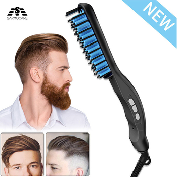 portable size handheld hair straight electric brush professional lcd display fast hair straightener comb New LCD Straight Comb Men's Hair Straightener Beard Comb Ceramic Hair Straightener Hair Comb Hot Comb Straightener Brush
