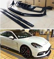 Carbon fiber Front Bumper Lip Spoiler Rear Trunk Diffuser Side Body Skirt Cover For Porsche Panamera 971 2017 2018 2019 2020