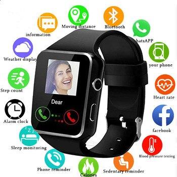 Smart Watch Bluetooth Support SIM Card Camera Fitness Phone Watches Men Women Smartwatch Message call reminder relogio clock