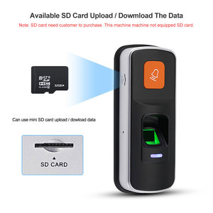 Image 4 - Alone RFID Fingerprint Access Control System Biometrische 125KHz Reader Türöffner Unterstützung SD Karte WG26 + 10 stücke Karten keyfobs