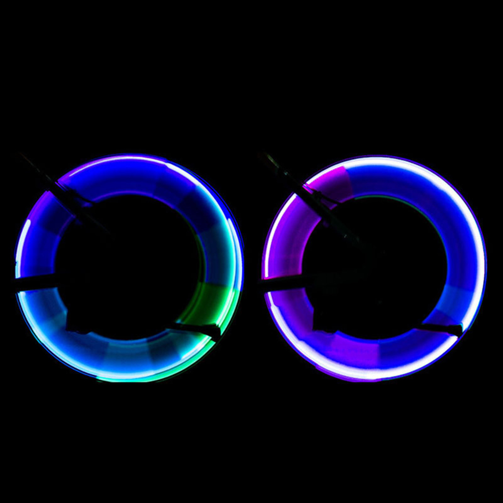 6 Pcs Colorful LED Ligth Bike Wheel Light Motion Activated Glow Bike Flashlight Tire Valve Cap Outdoor Riding Equipment in Valve from Sports Entertainment