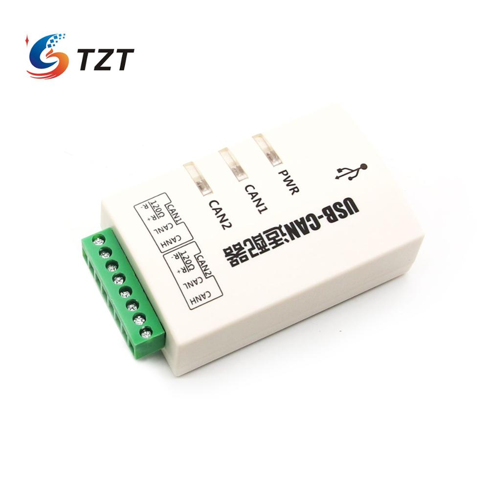TZT <font><b>USB</b></font> to CAN Converter Adapter Dual-channel CAN Interface Card <font><b>USB</b></font>-CAN-2A image
