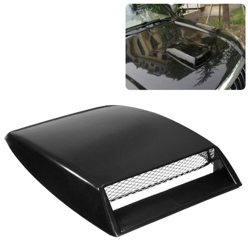 Automóveis estilo do carro universal decorativo fluxo de ar entrada colher turbo capô ventilação capa capa