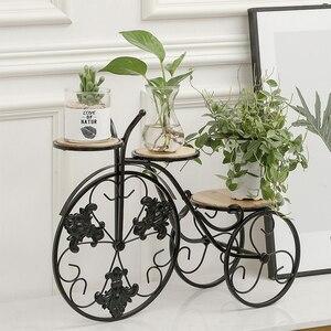 VIXTMAX 56X21X44 см ретро Утюг Bcycle цветочный горшок держатель дисплей трехколесный горшок плантатор стенд домашний сад Декор