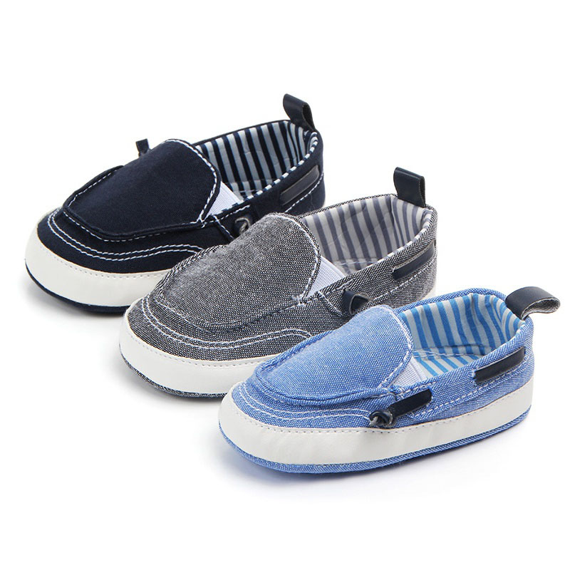 Brand New Newborn Toddler Baby Girls Boys Kids Infant First Walkers Striped Classic Shoes Loafers Casual Soft Shoes