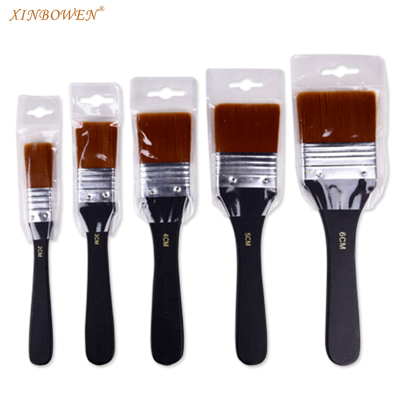 New Nylon Hair Painting Brush Oil Watercolor Water Powder Propylene Acrylic Different Size Paint Brushes School Wall Art Supply