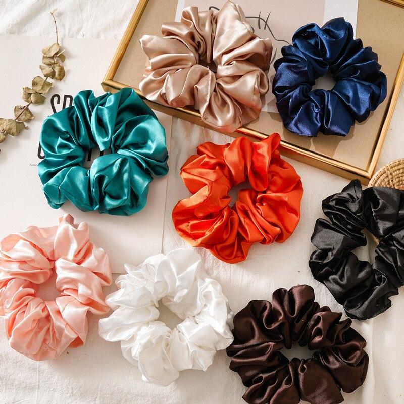 silk scrunchie pack headband hair accessories band for women head bands serre tete fashion stirnband tiara ponytail holder