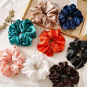 silk scrunchie pack headband hair accessories band for women head bands serre tete fashion stirnband tiara ponytail holder - discount item  25% OFF Headwear