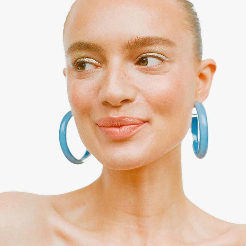 Europe America Hyperbolic Vintage Round Circle Acrylic Simple Hoop Earrings Fashion Jewelry Bohemia-YS