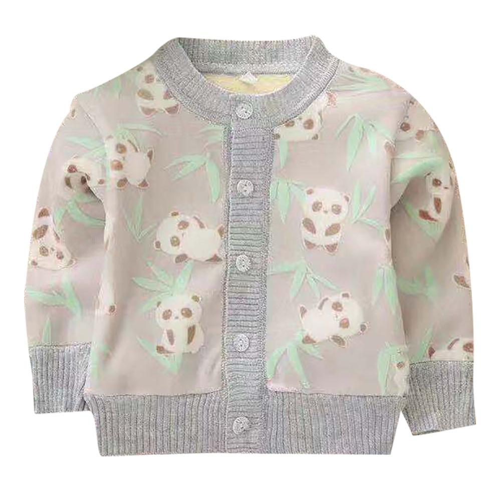 Kids Sweater Autumn Baby Girl Boy Cartoon Pattern Cardigan Casual Outerwear Coat Clothes
