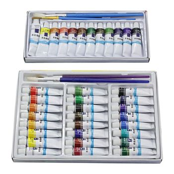 12ml 12/24 Colors Professional Paint Tubes Drawing Painting Watercolor Pigment Set Artist Art Supplies original south korean high quality very good wcs 103water colors 24 colors 7 5 ml watercolor oil paint