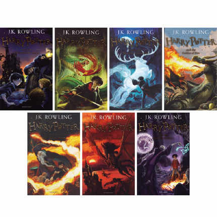 7 Books Potter Complete Set 2014 Edition Series J.K. Rowling Child Kids Magic Mystery Fantasy Fiction Novel English Story Book