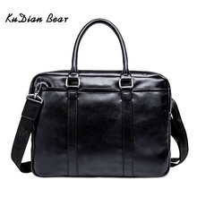 KUDIAN BEAR Fashion Simple Brand Business Men Briefcase Bag