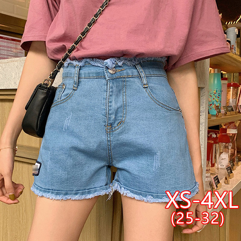 Women Denim Shorts Female New Korean Version Thin Student Hot Short Casual Jean High Waist Woman Short Plus Size Women Summer